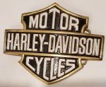 Harley Davidson XLarge Solid Brass Belt Buckle. Code HD-85